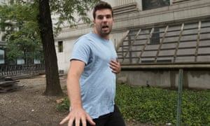 Billy McFarland leaving federal court in New York.