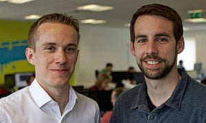 Company co-founders Jon Reynolds (left) and Ben Medlock, who are said to have made £25m each from selling SwiftKey.