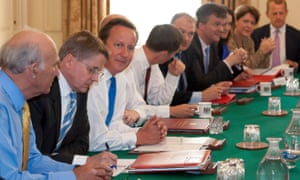 Jeremy Haywood beside former British prime minister David Cameron at No 10 Downing Street.