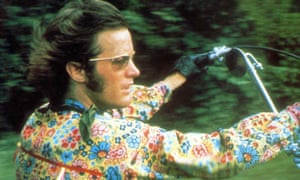Peter Fonda, 'the quintessence of that era', in Easy Rider.
