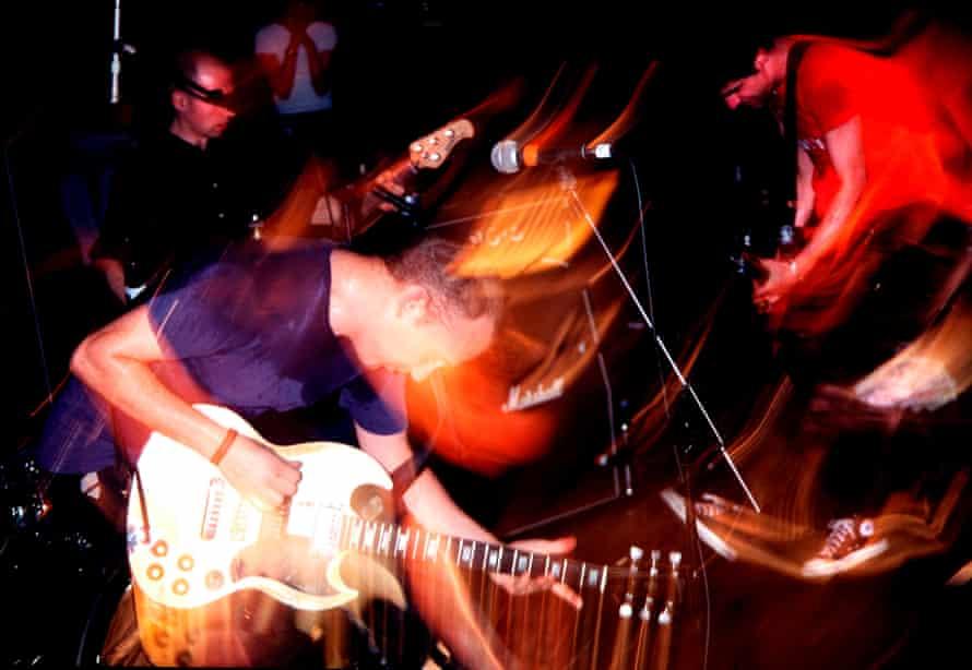 Urgent clamour … Fugazi on stage.