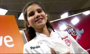The winner of MasterChef Junior series four in Spain.