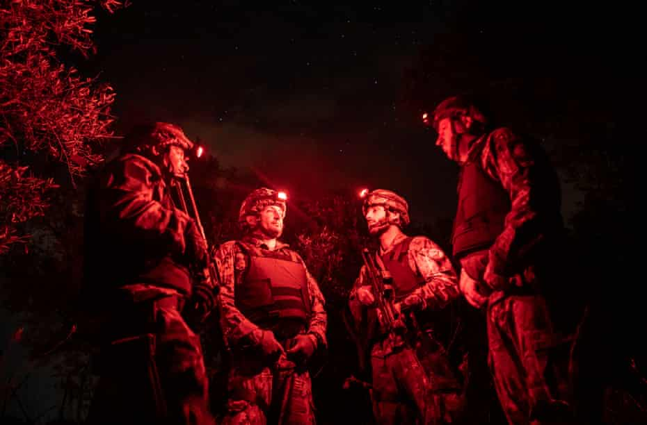 The Squadrone Carabinieri Eliportato Cacciatori Calabria during a night mission in a bunker house where a most wanted fugitive was able to escape in 2004 and captured in June 2016.