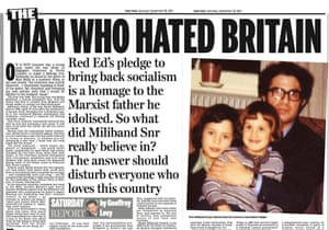 The infamous Daily Mail story that smeared Ed Miliband's father, the academic, Ralph Miliband.