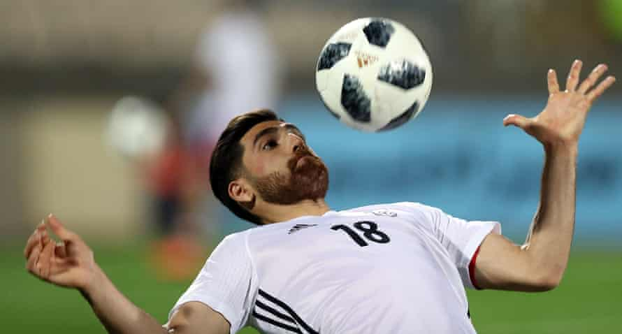 Alireza Jahanbakhsh in action for Iran.