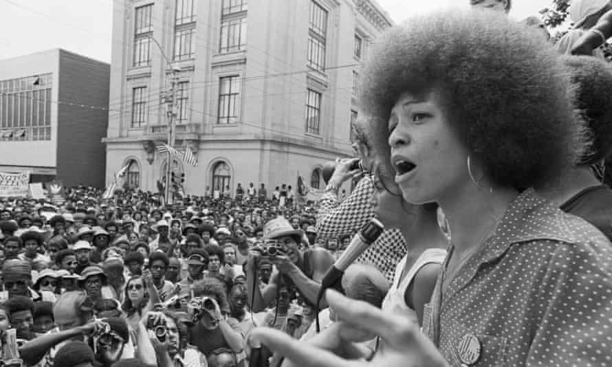 To tell the story of how white feminist ideology flourished in the US, I needed many voices ... Angela Davis addressing a rally in the US in 1974.