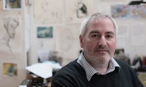 Chris Riddell - author, illustrator, cartoonist. Photograph by Martin Godwin For SAT REVIEW