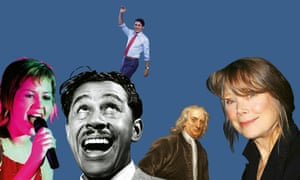 Composite of photographs of Isaac Newton; Cab Calloway; Sissy Spacek; Dido; Justin Trudeau