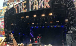 Georgia performing on the Park.