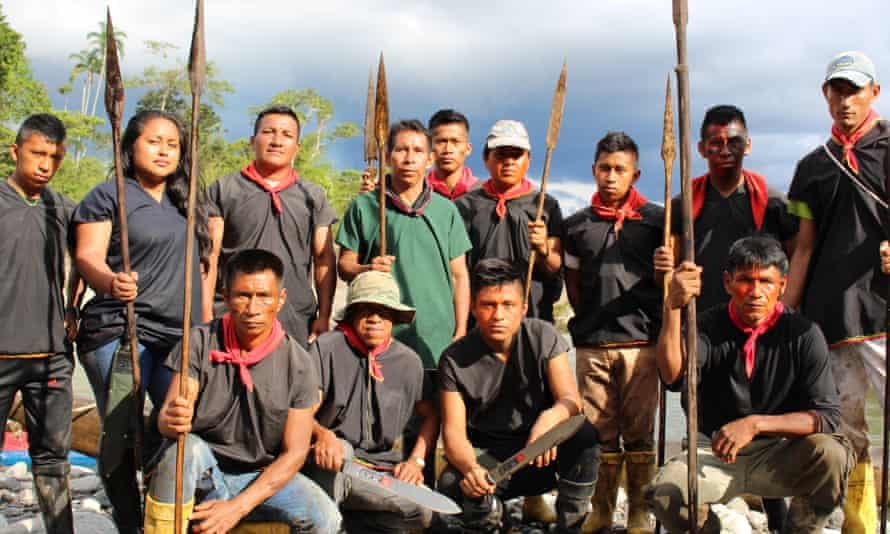 Members of Sinangoe's guardia indigena established last year to protect their territory from miners and others.