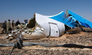 Wreckage from the Metrojet Airbus in Sinai