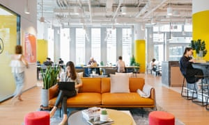 WeWork offices are popular, but the firm has long leases on big buildings and tenants on short, flexible rents.