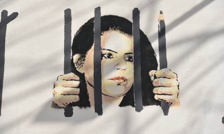 Banksy's mural dedicated to the Turkish artist Zehra Doğan, in New York.