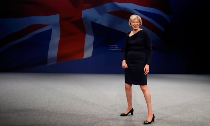 Image result for tory strong and stable stance theresa may