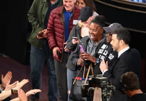 Vicky and Gary from the Chicago, amonst other surprised member of the public, who were subsequently 'married' by Denzel Washington during a Kimmel skit