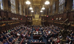 The government has no majority in the House of Lords.