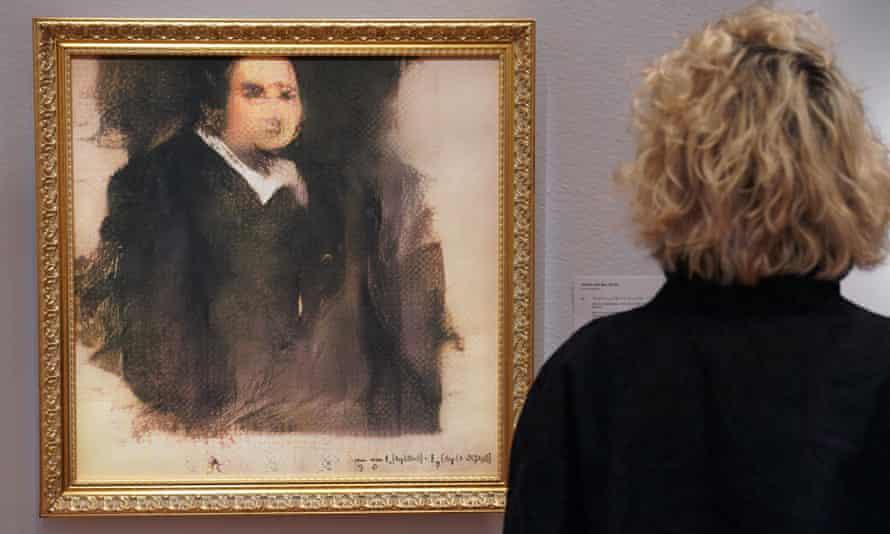 Portrait of Edmond Bellamy at Christie's in New York.