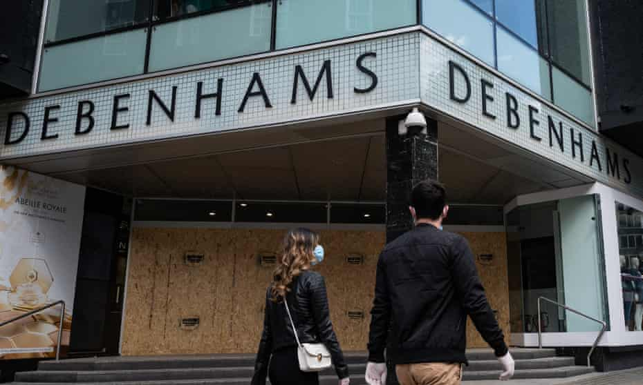 Debenhams is now in administration and its 142 stores are closed.