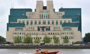 The MI6 building on the bank of the Thames in central London.