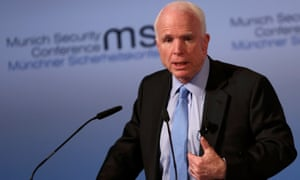 US senator John McCain speaks at the Munich security conference