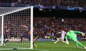 Mo Salah of Liverpool hits the post.