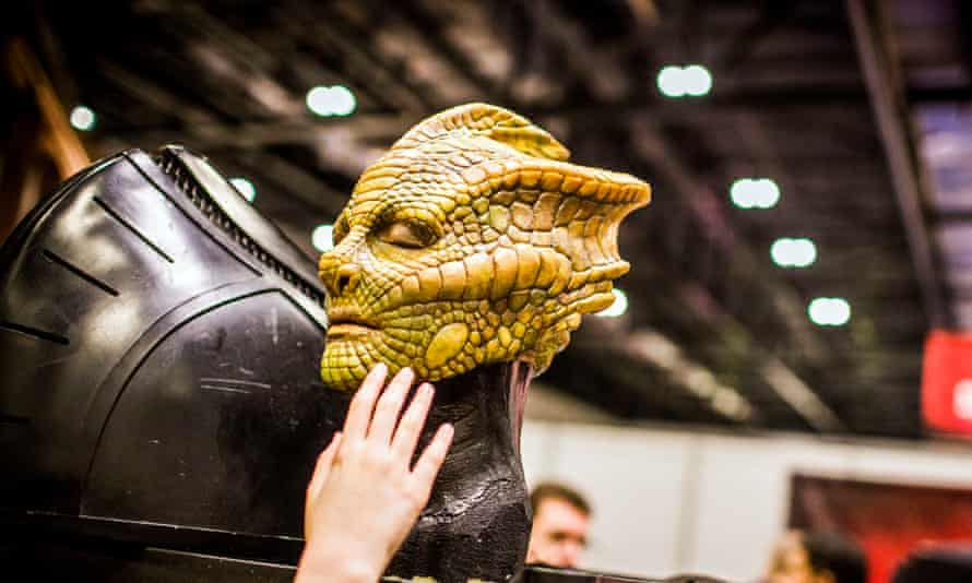 The face of a Silurian, or Homo reptilia, or any other scientifically-inaccurate name you wish to use.