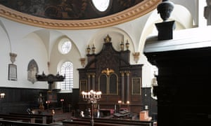 Interior of St Mary Abchurch, City of London