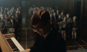A school recital scene in the Elton John advert