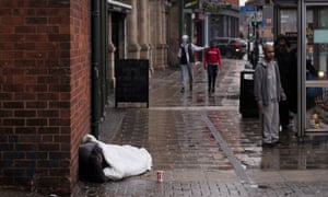 Homeless man in Birmingham