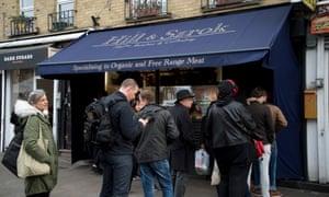 Hill & Szrok meat shop in Hackney, London