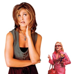 Short hillbilly Reese Witherspoon meets tall, wisecracking New Yorker Jennifer Aniston for height-based lols.
