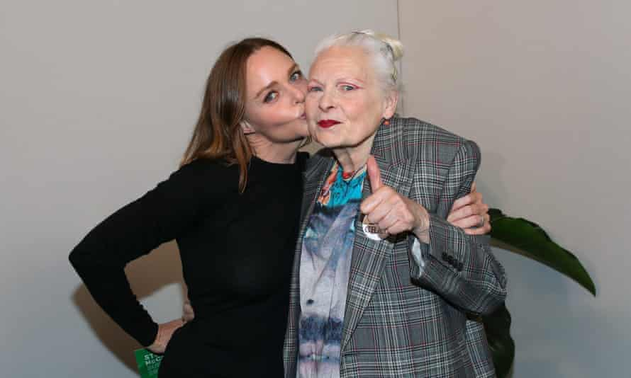 Stella McCartney with Vivienne Westwood in Paris in 2019
