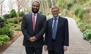 Saudi Crown Prince Mohammed Bin Salman meets Bill Gates