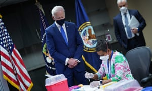 Biden at a vaccine event in Washington earlier this month. Coordinator Jeff Zients reiterated Biden's pledge to make vaccines available for every adult in the US by the end of May.
