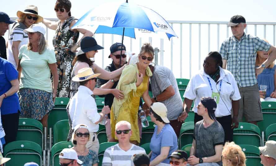 Woman succumbs to hot weather at tennis match in Nottingham