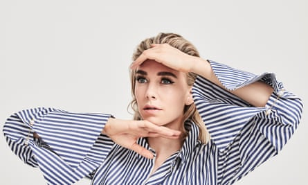 Watch this face: Vanessa Kirby wears shirt by Mother of Pearl.