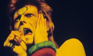 David Bowie as Ziggy Stardust in 1973.