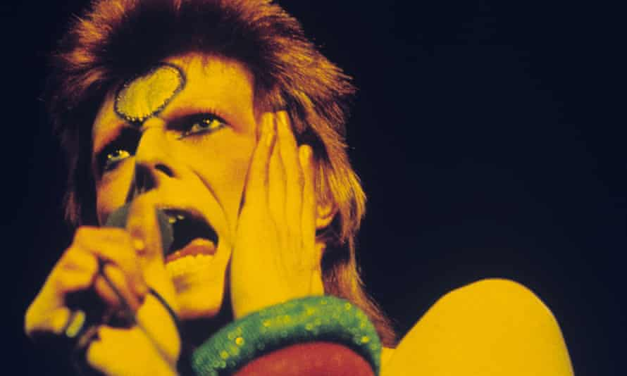 David Bowie … As Ziggy Stardust in May 1973