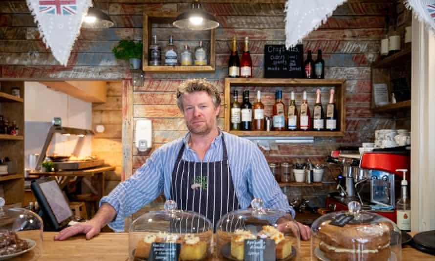 James Warren, owner of the Salt Pig cafe in Wareham.