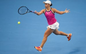 Ashleigh Barty won the opening set failed to continue her good early form.