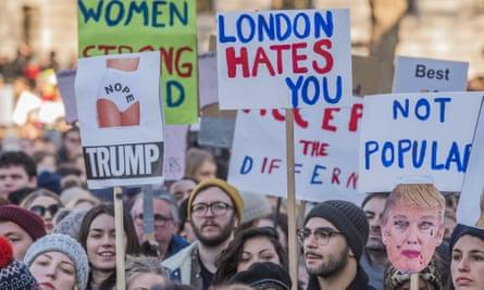 Women's anti-Trump march in London