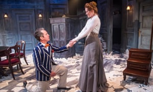 The terror of forgetting … Tom Hollander and Clare Foster in Travesties, which is transferring to the West End.
