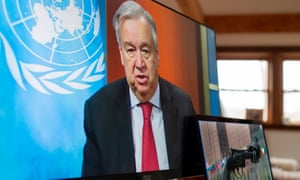 UN secretary-general António Guterres called for a global ceasefire amid the coronavirus pandemic.