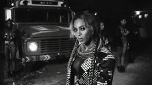 Beyonce in the video for her track Sorry