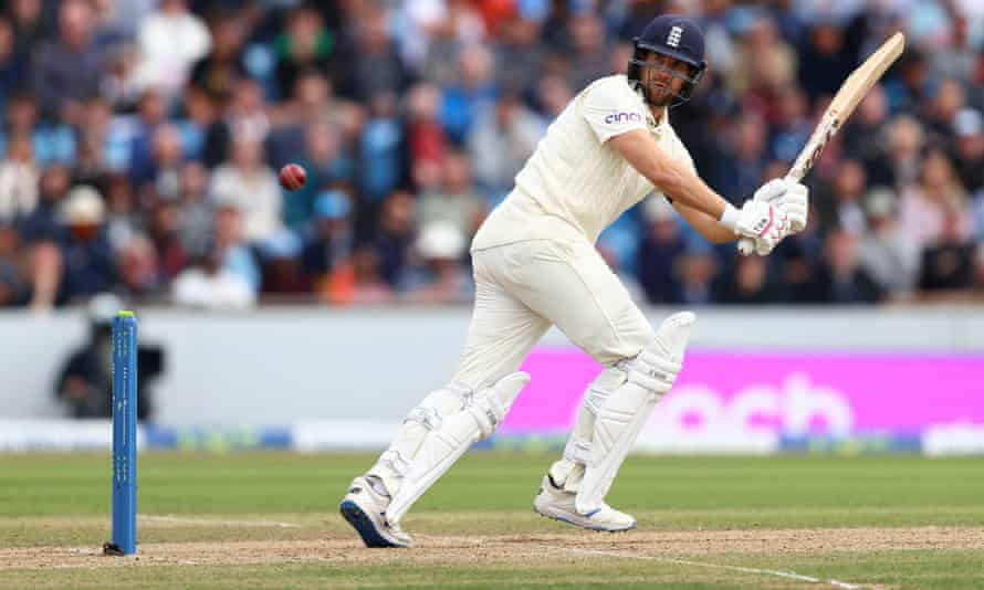 Dawid Malan produces another fine shot against India on the second day of the third Test.
