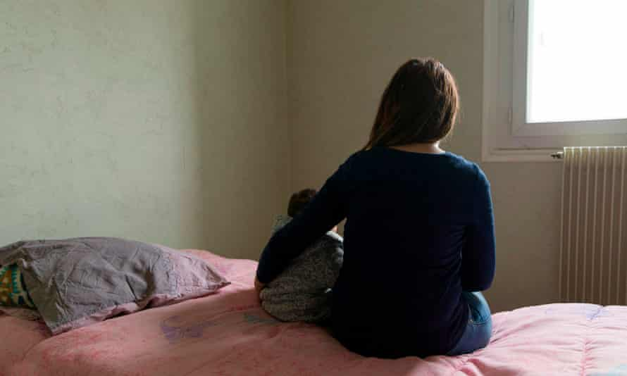 Mother and child in women's refuge