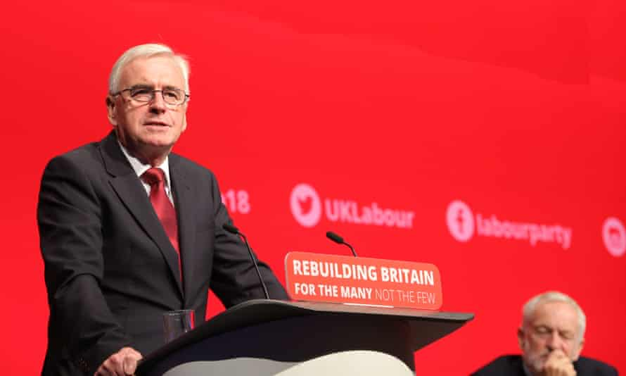 John McDonnell addresses the Labour party conference, 24 September 2018