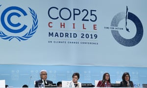 COP25's executive leaders attended the closing plenary session of the conference in Madrid on Sunday.