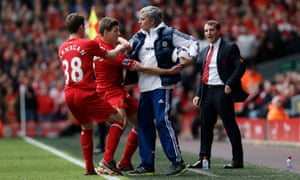 Steven Gerrard wants to atone for his slip – but José won't give him his ball back.