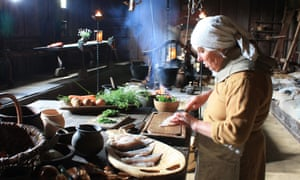The kitchen at the Ribe Viking Centre